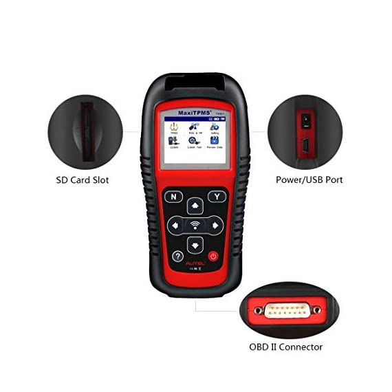 Autel MaxiTPMS TS501 TPMS Relearn Tool Automotive Scan Tool with Activate TPMS Sensors/TPMS Sensor Programming/Program… 9 【Upgraded Version of TS408, 2021 Newest】TS501 TPMS Tool can diagnose newest models up to 2020 with frequent updates. It packed ALL TPMS service options: TPMS programming(MX-Sensors), sensors Relearn/Activation, TPMS Reset and TPMS health diagnose, read sensor data, key fob frequency test. Please send VIN to : ❤Autelonline @outlook.com❤ CHECK COMPATIBILITY. 【TPMS Programming】 TS501 TPMS Programming Tool enables all car enthusiasts to program sensor data to Autel MX-Sensors with ease, saving you the money and trip to a dealership. With TS501, you can program AUTEL MX-Sensor (315/433MHz) with 4 programming options: Copy By Activation, Copy By Manual Input, Auto Create and Copy by OBD( Not available with TS408) to replace the faulty sensor with low battery life or one that is not functioning well. 【Relearn All TPMS Sensors】TS501 has added Relearn by OBD comparing with TS408. To turn off the TPMS warning light after replacement, you need to relearn the sensors to the vehicle! Autel TS501 TPMS Relearn Tool provides 3 ways of on-tool relearn precedures to relearn both OE and aftermarket sensors: Stationary Relearn, Automatic Relearn & OBD Relearn.