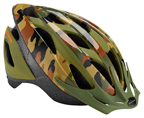 Schwinn Thrasher Bike Helmet, Lightweight Microshell Design, Youth, Jungle Camo