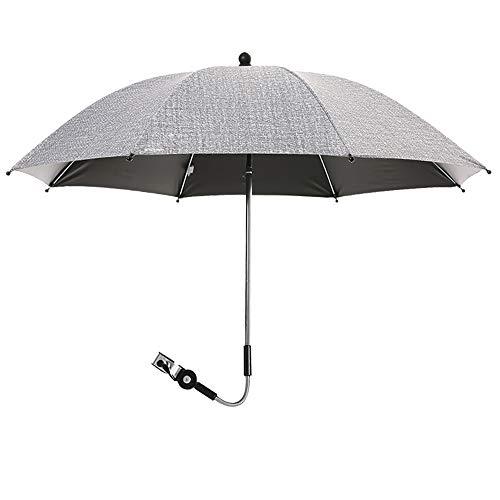 bolukets Universal Sonnenschirm Sonnenschutz für Kinderwagen & Buggy Regenschirm Kinderwagen UV Schutz 50+ und 360°Drehung