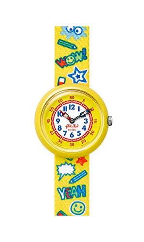 Flik Flak Jungen Analog Quarz Uhr mit Textil Armband FBNP134