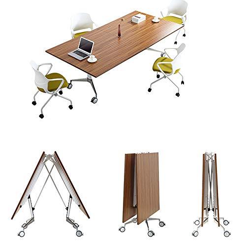 VBARV Multifunktionaler zusammenklappbarer Konferenztisch - Spleißtisch mit Bürotrainings-Tisch Personal-Besprechungstisch Rollklapp-Konferenztisch...