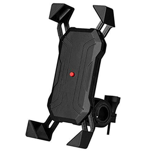 Xiaomu Soporte universal para teléfono móvil para manillar de motocicleta, para smartphone de 3,5 a 7 pulgadas, giratorio 360°, para iPhone y Samsung