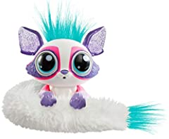 The Lil' Gleemerz glittered are adorable interactive toys with rainbow light-up tails and quirky sounds and phrases -now available in glittery colors! Dazzette is a shimmery purple with glowing eyes and a flexible, furry light-up tail. Simply press h...