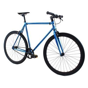 Golden Cycles Single Speed Fixed Gear Bike with Front & Rear Brakes (Cardinal, 55)