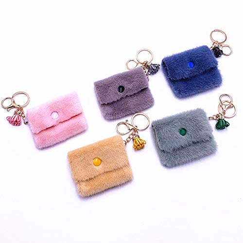 Womens Slim Soft Holder Mini Wallet Coin Purse Keychain Stylish and Compact Coin Purse and Keychain