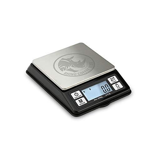 Rhino Coffee Gear Coffee Dosing Scale, Black, RCGDOSE1000