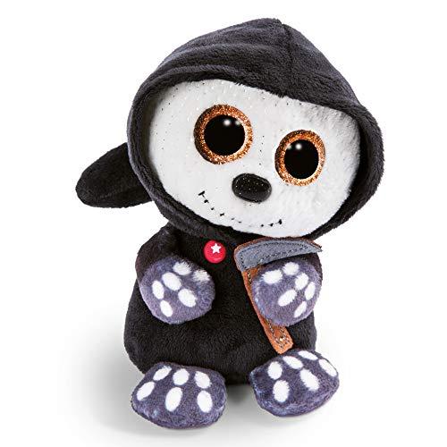NICI 46305 Glubschis Kuscheltier Halloween Sensenmann Sanito, Flauschiges Plüschtier mit großen Glitzeraugen, süßes Stofftier für Kinder und Kuscheltierliebhaber