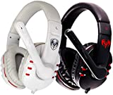 Auriculares de juego, Auriculares, Auriculares por cable, Auriculares de reducción de ruido, Estéreo,Black