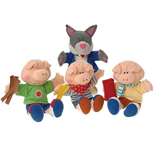 Constructive Playthings'The Three Little Pigs' Wolf and Pig Puppet Set from The Childhood Favorite Book