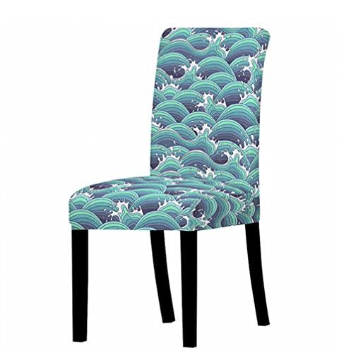 Fundas de silla de Spandex Fundas de asiento de escritorio Fundas de asiento protectoras para hotel banquete boda spray patrón de dibujos animados