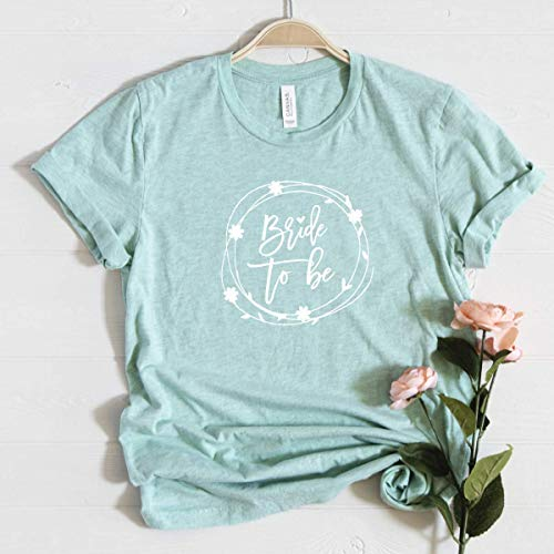 "T-Shirt ""Bride to Be"" mint aus 100% Baumwolle"