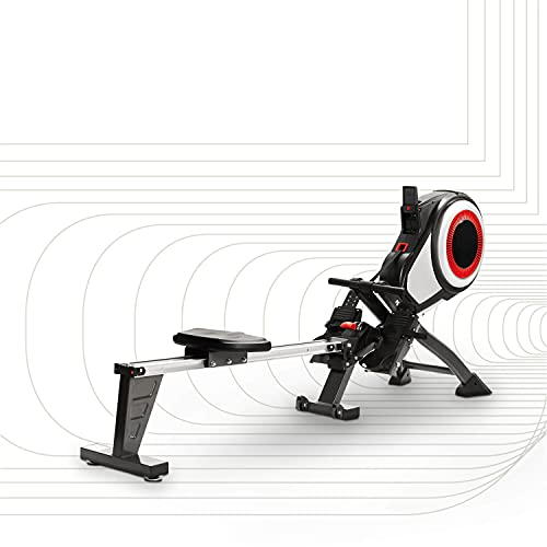 SportPlus máquina de remo, sistema de frenado por turbina, sensación realista, 8 niveles de resistencia al aire, ordenador de entrenamiento, plegable, peso max. 150 kg, seguridad probada, SP-MR-010