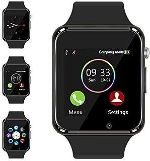 Bluetooth Smart Watch - Aeifond Touch Screen Sport Smart Wrist Watch Smartwatch Fitness Tracker Camera Pedometer SIM TF Card Slot Compatible Samsung Android iPhone iOS Kids Women Men (Black)