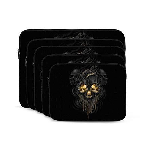 QUEMIN Abstrakte Schädel-Druck-Laptop-Hülle, stoßfeste Notebook-Aktentasche, Tablet-Tragetasche für MacBook Pro/MacBook Air/Asus/Dell/Lenovo/HP/Samsung 12 Zoll