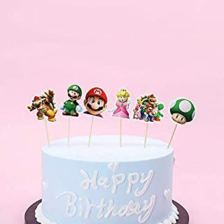 KBN 24pc Super Mario Cartoon Boys Girls Cake Cupcake Toppers