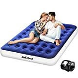 Air Mattress Camping AirBed Queen Size - AirExpect Leak Proof Inflatable Mattress with Rechargeable...