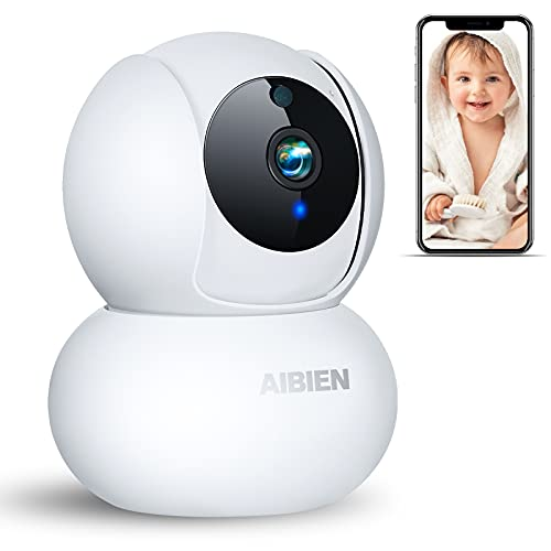 1080P Wi-Fi Camera, Baby Monitor with Camera and Audio-2.4GHz Home Security Camera, Pet Camera with 2-Way Audio,Motion Tracking,Night Vision,Cry Detection,Remote Pan-Tilt, Local Storage and Cloud