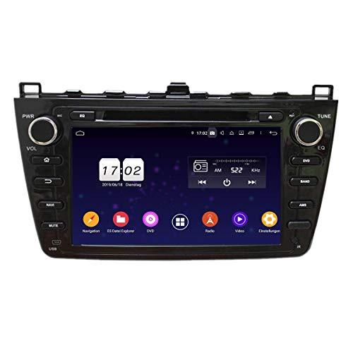 (Schwarz) Android 9.0 Pie Auto Radio für Mazda 6(2008-2012), 4 GB RAM+32 GB ROM, 8 Zoll Touchscreen DVD Player Bluetooth Radio GPS Navigationssystem Haupteinheit
