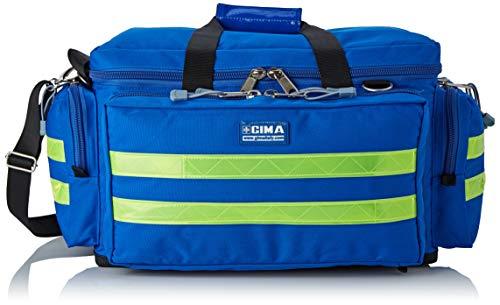 """GIMA ref 27152 Bolsa""""Smart"""" para emergencias sanitarias, poliéster, 55 x 35 x 32cm, talla mediana, azul, maleta primeros auxilios con compartimientos internos y externos, resistente al agua"""