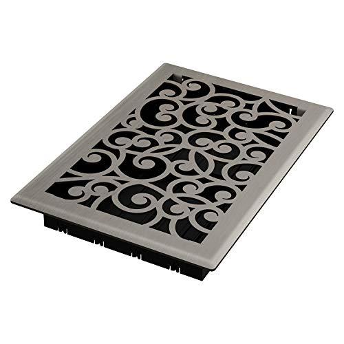 Imperial RG3362 Wonderland Decorative Floor Register, 6 x 10-Inch, Brushed Nickel