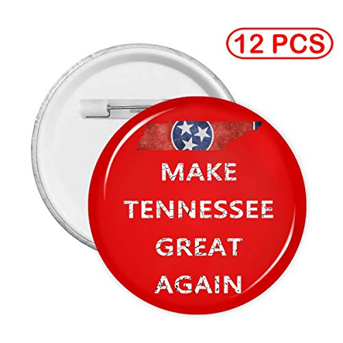 Make Tennessee Great Again Unisex Tinplate Button Pin Round Badge Circle Brooches Lapel Pin