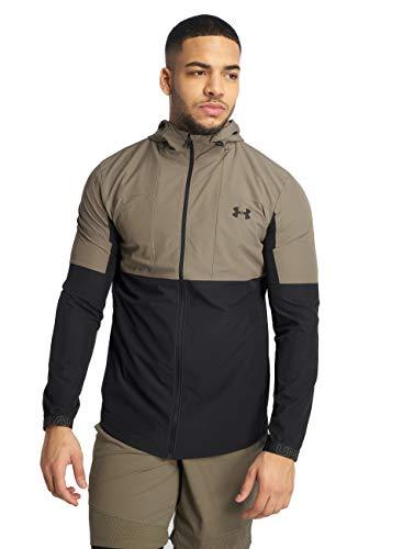 Under Armour Vanish Woven FZ Jacket, Felpa Uomo, Marrone (Silt Brown/Black), L