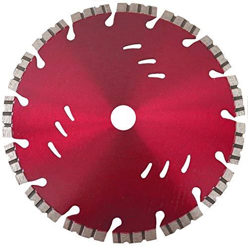 Diamanttrennscheibe Trennscheibe WFB_Ø 350 mm, B= 25,4 mm, Top-UNIVERSAL-Diamantscheibe mit Segmenthöhe 10 mm Lasergeschweißt, Beton armiert, Mauer- Ziegel, Klinker, Naturstein usw,