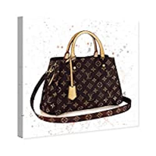 The Oliver Gal Artist Co. Fashion and Glam Wall Art Canvas Prints 'Doll Memories-Details Bag' Home Décor, 12' x 12', Brown, Brown