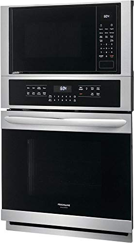 Frigidaire FGMC2766UF 27 Inch Gallery Series Electric Microwave Wall Oven/Microwave Combination with True Convection Effortless Temperature Probe and Steam Clean in Stainless Steel