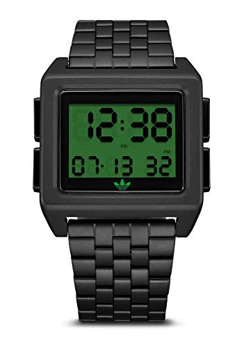 Archive_M1 5 Link Stainless Steel Braclet 24mm Width (41 mm) - All Black/Tech Green