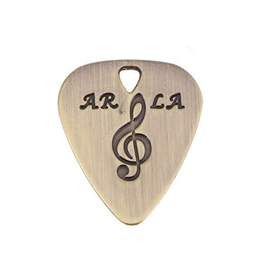 SUPVOX Metall Plektrum Anhänger Gravur Kette Plektren Halskette Gitarrenpickel für DIY Schmuckherstellung Gitarre Ukulele Bass (Bronze)