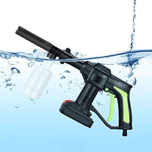TTLIFE Pistola de lavado de alta presión 21V 2.0Ah 3.5L / min Lavadora de chorro a presión inalámbrica recargable con cepillo de limpieza / Manguera de 6 m para limpiar automóviles