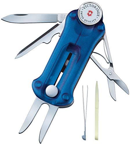 Victorinox Taschenmesser Golf Tool (10 Funktionen, Ballmarkierer, Reparatur) blau transparent