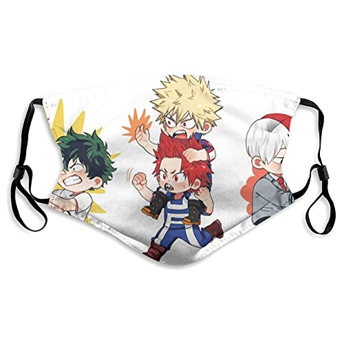 Masque imprimé unisexe My Hero Academia Manga Case2 - Coupe-vent - Oreilles réglables - Unisexe