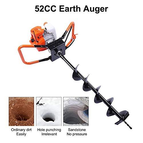 InLoveArts 52cc 2,5 PS 2Stroke Benzinbetriebener Bohrer Garden Post Earth Auger Digger Borer