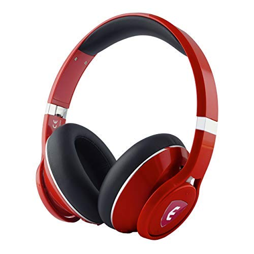 Nakamichi Edge Dual-Driver Wireless Headphones with Active Noise Cancellation (Red)