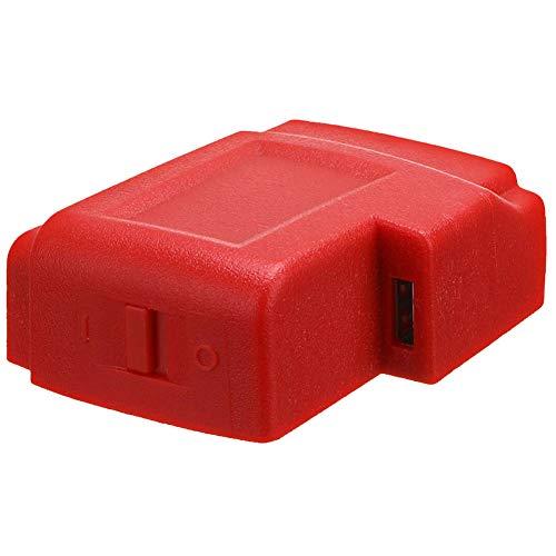 Cargador adaptador convertidor de conector USB para Milwaukee 49-24-2371 M18 adaptador cargador radios