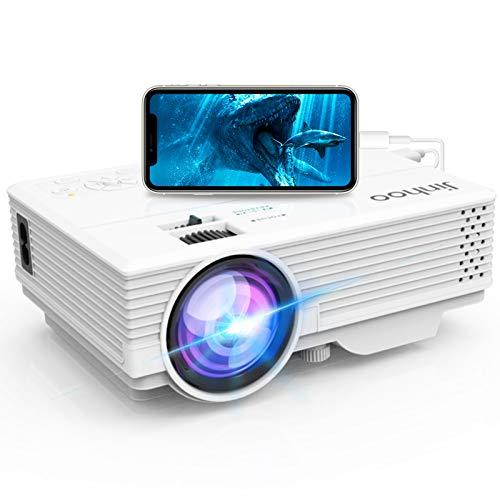 Jinhoo スマホプロジェクター 4500LM スマホと直接に繋がり2020新機種発売1080PフルHD対応 HDMI/USB/SD/VGA/AV対応 スマホ/パソコン/タブレット/TV Stick/ゲームプレイヤー/DVDプレイヤーなど接続可 ホームシアター
