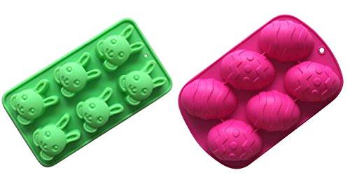2 Rabbit & Egg Shaped Silicone Molds