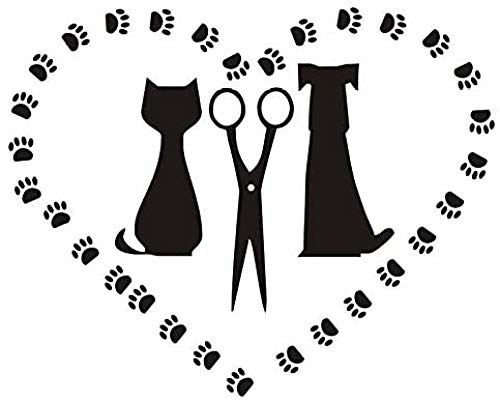Stickers Decoracion Pared Calcomanías Para Perros Y Gatos Para Mascotas Pegatinas Decorativas Calcomanías De Pared De Corazón Para Tiendas De Mascotas 34X44Cm