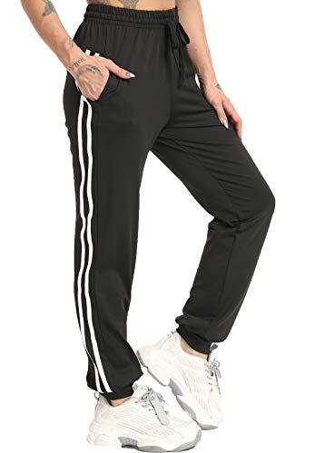 FITTOO Pantaloni Donna Yoga Abbigliamento Sportivo Decorativi Striscia Laterale per Ginnastica Fitness Jogging Pantaloni Casual