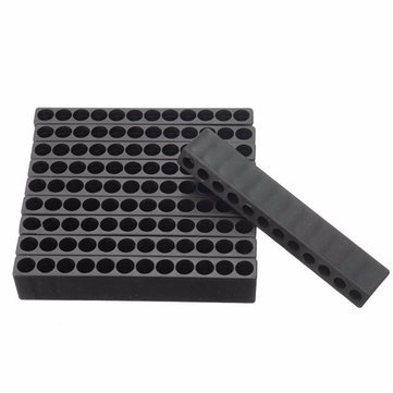 10pcs 12 Holes Screwdriver Bit Holder Drill Head Storage Case