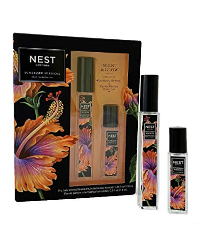 Sunkissed Hibiscus Scent & Glow Duo - Dry Body Oil Mist & Eau de Parfum Rollerball