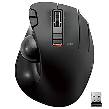 ELECOM 2.4GHz Wireless Thumb-Operated Trackball Mouse 6-Button Function with Smooth Tracking Precision Optical Gaming Sensor  M-XT3DRBK  Black