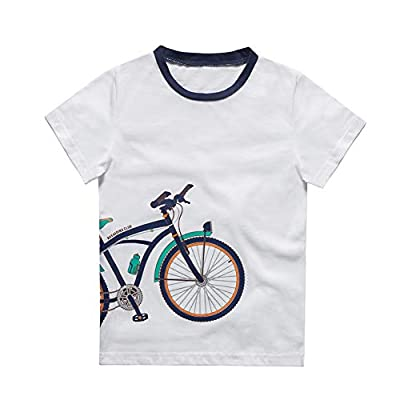 HOLIEBEE Boys Short Sleeve T-Shirts Uniform Crew Neck Tee Shirts Cotton Kids Tops Clothes White, 9-10 Years