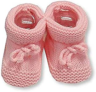 Par de zapatos de bebé recién nacido, azul o rosa, con cordón (rosa)