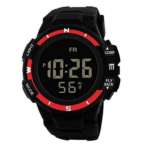 Armbanduhren männer Herrenuhr mit Datum Funktion Herren Männer Analog Digital Military Army Sport LED wasserdichte Armbanduhr Armbanduhr Uhren Armbanduhren Herrenarmbanduh rot 1408