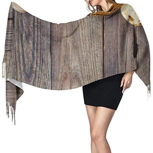 Kevin-Shop 27 'x77' scialle avvolgere per le donne delizioso pane integrale sciarpa frangia lunga sciarpa scialle avvolgere elegante grande coperta calda
