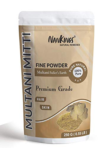 Nankings Pure & Organic Multani Mitti Powder For Face and Hair (Fuller Earth) (250g)