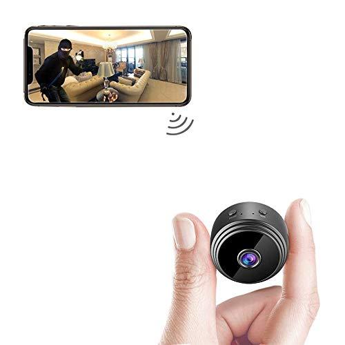 Mini Telecamera Spia Nascosta WiFi,Mini Telecamera Full HD 1080P Portatile Microcamera Mini Wifi con Visione Videocamera di Sorveglianza Senza Fili Spy Cam per Esterno/Interno